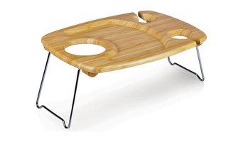 Mesavino Bamboo Wine Table, Natural Wood, 14x12x4