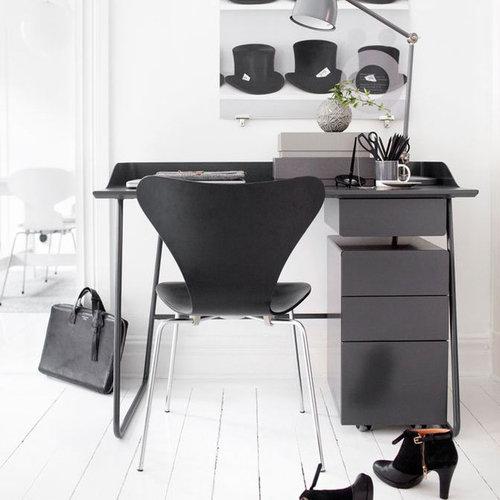 Overtime Skrivbord Stort Med Låda, Grafit - Skriveborde