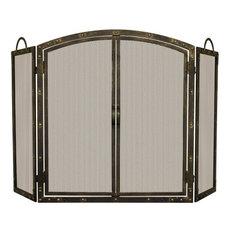 Uniflame S1769 Aged Bronze 3 Panel Screen With Doors