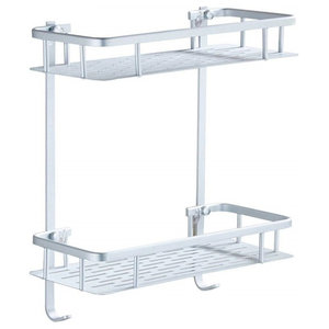 Bathroom Rank, Steel With 2 Open Shelves for additional Storage, Modern Style