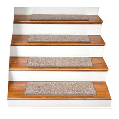 Tape Free Non-Slip DIY Carpet Stair Treads, Set of 15, Beige