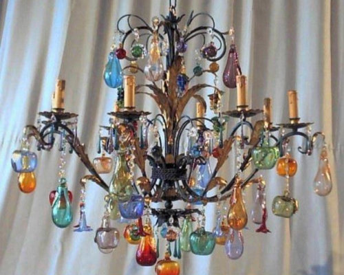 Glass fruit chandelier image of stained glass chandelier dcuo with beautiful murano glass fruits chandeliers products with glass fruit chandelier aloadofball Images