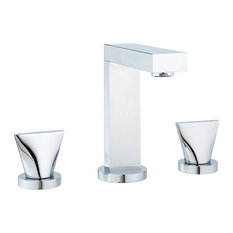 Extend Widespread Faucet With Knobs and Drain, Polished Chrome