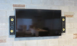 TV and speakers on brick wall? No problem!