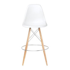 Fae White Bar Stool