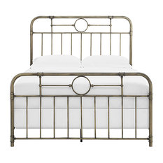 Queen Size Bronze Metal Pipe Bed
