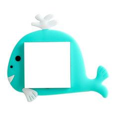 Blancho Bedding Cartoon Luminous Switch Sticker European Simple Modern Whale Blue Plates And