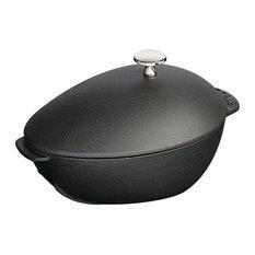 Staub Cast Iron 2-qt Mussel Pot - Matte Black