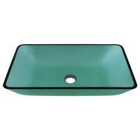 Polaris P046E Colored Glass Vessel Bathroom Sink