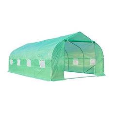 Outdoor Garden 20'x10'x7' Portable Walk-In Garden Greenhouse Deep Green