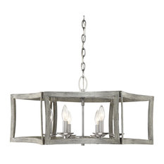 "Savoy House 7-0201-6 Brookline 6 Light 27"" Wide Taper Candle Chandelier"