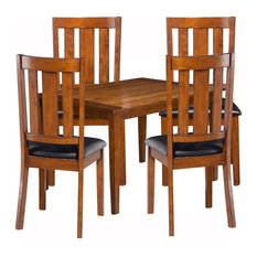 Emma Mason Signature Juco 5 Piece Dining Set with Table and 4 Chairs in Cappucci
