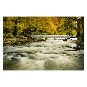 """Hoope's Waterfall in the Autumn Landscape Photo Unframed Wall Art Print, 20""""x30"""""""