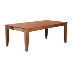 """Mango Dining Table With 18"""" Butterfly Leaf, Natural"""