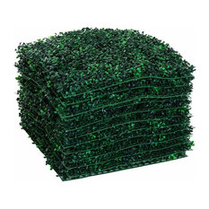 "Outsunny 12 Piece 20""x 20"" Artificial Boxwood Hedge Mat Plant Panels, Boxwood"