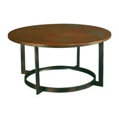 Hammary Furniture   Rustic Hammered Copper Round Coffee Table   Coffee  Tables