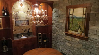 Marble Mural in Wine Cellar.  Dayville, Connecticut