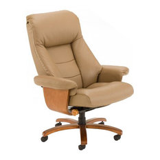oslo collection mandal top grain leather swivel recliner sand tan office chairs chair mid century office