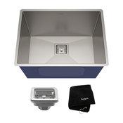 """Kraus Undermount Kitchen Sink, Stainless Steel, Accessories, 24"""""""