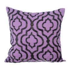 Bewitched Cotton Decorative Cushion Cover, Purple, 60x60 cm