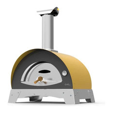 "Allegro 39"" Countertop Wood Fired Pizza Oven, Yellow"