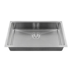 "Single Bowl 3/4"" Radius Stainless Steel Sink, Sink Only"