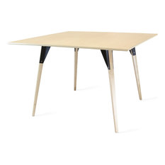 Clarke Square Table, Black, Large, Maple