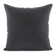 """Solid Charcoal Gray Accent, Throw Pillow Cover, 16""""x16"""""""