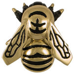 Michael Healy Designs - Bumblebee Door Knocker, Brass, Premium - Create a buzz with this beautiful Bumblebee Door knocker. A bright reminder to cherish the community around and within our homes. Cast in solid brass and hand finished, the Bumblebee Knockers are unmatched in quality and craftsmanship. Surface mounted so there is no visible hardware from the inside, they are available in Premium or Standard size's in three finishes.
