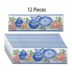"12 Pcs Ceramic Listello Tile Border Chair Rail 3"" x 10"""