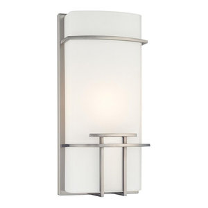 George Kovacs 1-Light Wall Sconce P465-084, Brushed Nickel