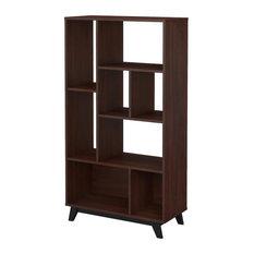 Office by Kathy Ireland Centura 8-Shelf Bookcase, Century Walnut