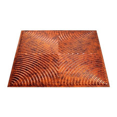 "23""x23"" Fasade Echo Glue-up Ceiling Tile, Moonstone Copper"