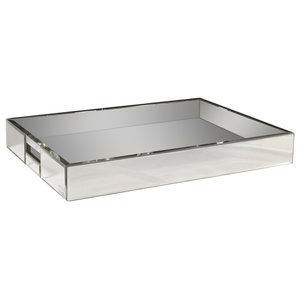 Mirror Serving Tray, Without Diamantes