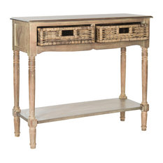 Safavieh Corbin 2-Drawer Console Table, Washed Natural Pine