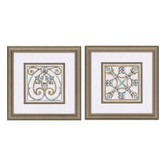 Paragon Geometrics Traditional Coventry II Pack of 2 Wall Art