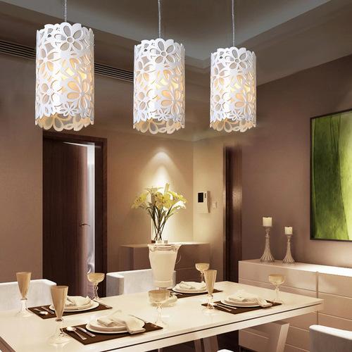 vinyls three mini light pendant with white shades pendant lighting - Modern Pendant Lighting For Dining Room