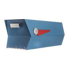 modbox usa inc midcentury modern mailbox satin pearl blue - Modern Mailboxes