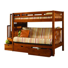 Custom Kids Furniture Bunk Bed With Futon Stairs Storage Beds