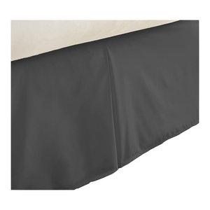 Becky Cameron Premium Ultra Soft Luxury Bed Skirt Dust Ruffle, Black, Full