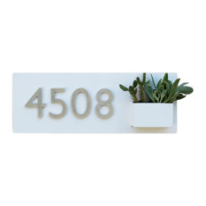 South 1st Address Plaque, White
