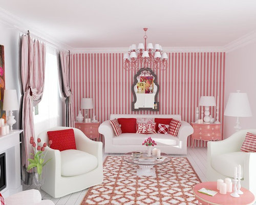 Pink Living Room Floor Tiles