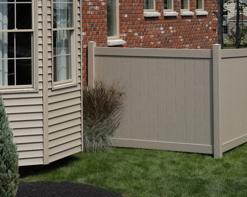 Bufftech Certagrain Chesterfield Clay Vinyl Privacy Fence