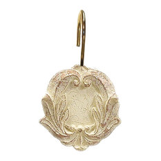 Carnation Home Fashions Victorian Resin Shower Curtain Hooks