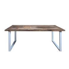 Christiaan White and Brown Dining Table