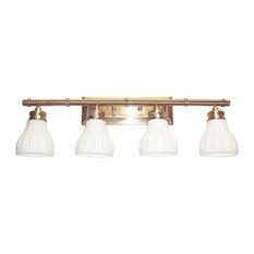 Transglobe Antique Brass 4 Light Bath Wall Fixture Bathroom Vanity Lighting