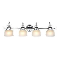 chloe lighting inc ironclad 4light vanity fixture chrome and white