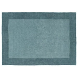 Boarders Duck Egg Rectangular Rug, 160x230 cm