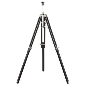 Wooden Tripod Floor Lamp Base Only, Black