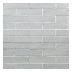 "Rhythmic Wales 2""x9"" Terra Cotta Subway Tile, Gray"